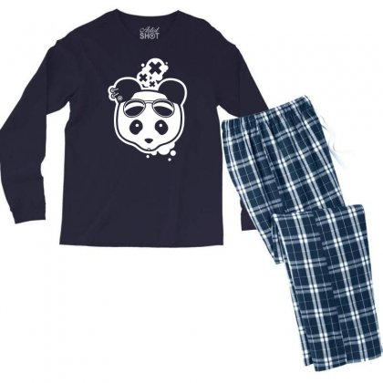 Super Hippies Panda Men's Long Sleeve Pajama Set Designed By Specstore