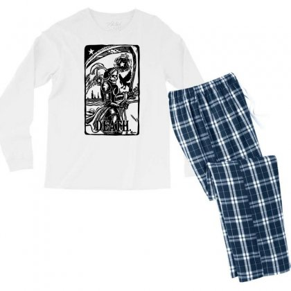 Tarot Death Card Men's Long Sleeve Pajama Set Designed By Specstore