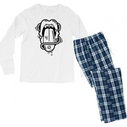 The Diamond Tongue Men's Long Sleeve Pajama Set Designed By Specstore