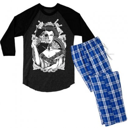Half Dead Geisha Men's 3/4 Sleeve Pajama Set Designed By Specstore
