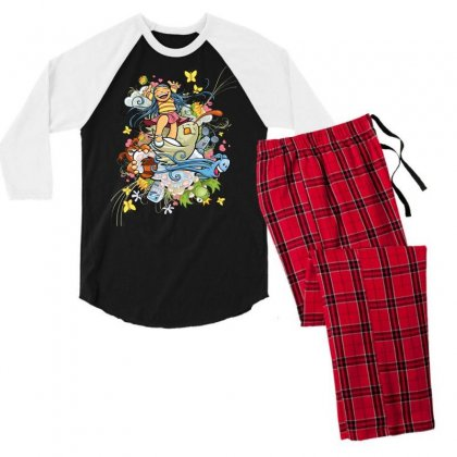 Happy Day Adventure Men's 3/4 Sleeve Pajama Set Designed By Specstore