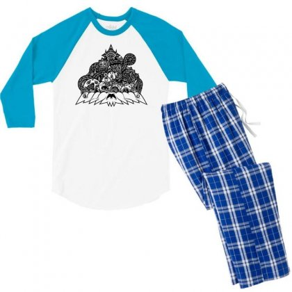 Ilumination Doodle Men's 3/4 Sleeve Pajama Set Designed By Specstore