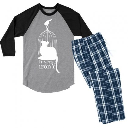 Inverse Irony Men's 3/4 Sleeve Pajama Set Designed By Specstore