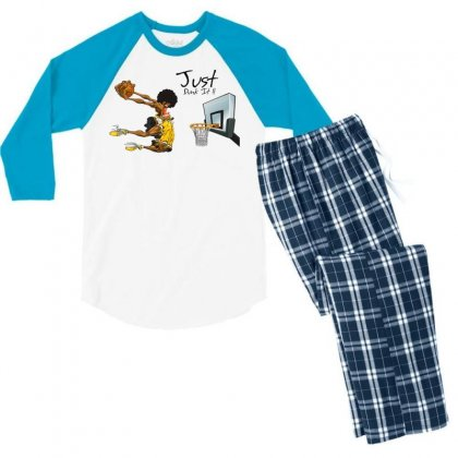 Just Dunk It Men's 3/4 Sleeve Pajama Set Designed By Specstore