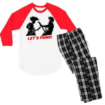 Lets Punk Men's 3/4 Sleeve Pajama Set Designed By Specstore