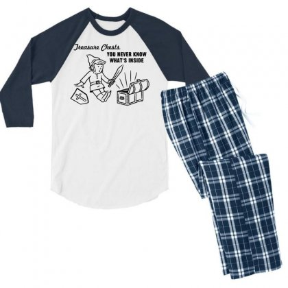 Linkpoly Men's 3/4 Sleeve Pajama Set Designed By Specstore
