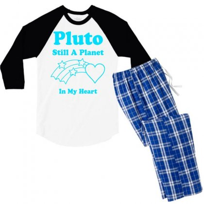 Pluto Still A Planet In My Heart Men's 3/4 Sleeve Pajama Set Designed By Specstore