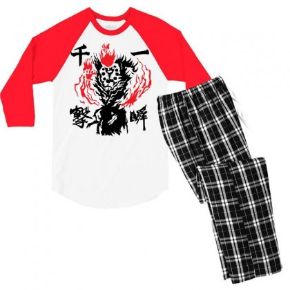 Raging Demon Men's 3/4 Sleeve Pajama Set Designed By Specstore