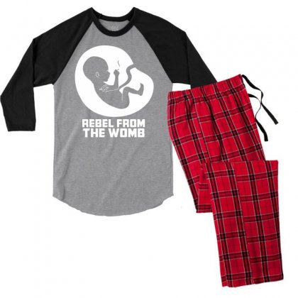 Rebel Fromthe Womb Men's 3/4 Sleeve Pajama Set Designed By Specstore