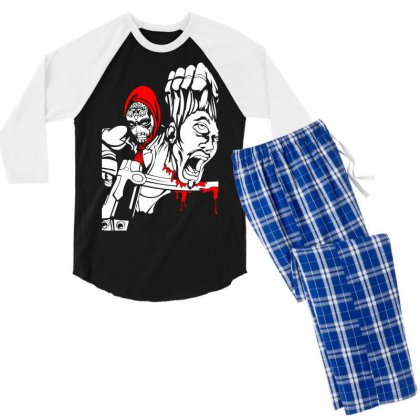 Red Murder Men's 3/4 Sleeve Pajama Set Designed By Specstore