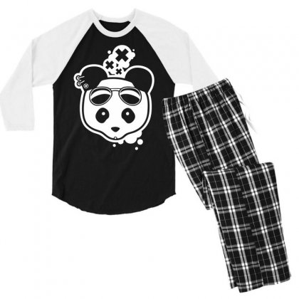 Super Hippies Panda Men's 3/4 Sleeve Pajama Set Designed By Specstore