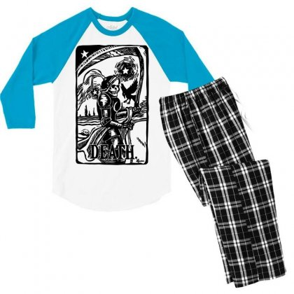 Tarot Death Card Men's 3/4 Sleeve Pajama Set Designed By Specstore