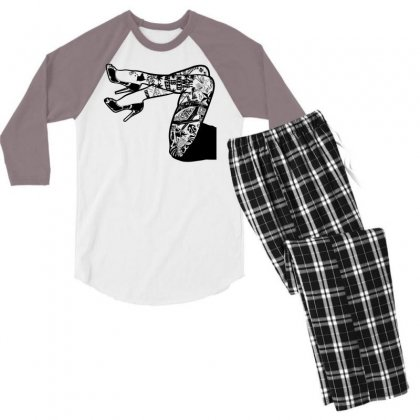 Tattooed Legs Men's 3/4 Sleeve Pajama Set Designed By Specstore