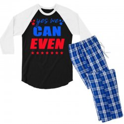 Yes We Can Even Men's 3/4 Sleeve Pajama Set | Artistshot