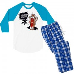 Angry Boss Screaming Deadline Men's 3/4 Sleeve Pajama Set | Artistshot