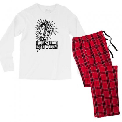 Wrestling With Words Men's Long Sleeve Pajama Set Designed By Specstore