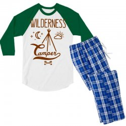 wilderness camper Men's 3/4 Sleeve Pajama Set | Artistshot