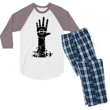 The Unperson Hand Men's 3/4 Sleeve Pajama Set Designed By Specstore