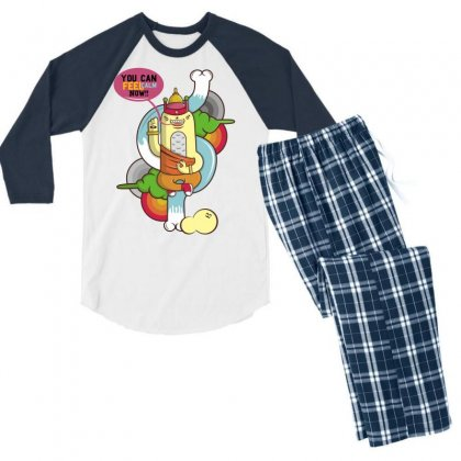 You Can Calm Now Men's 3/4 Sleeve Pajama Set Designed By Specstore