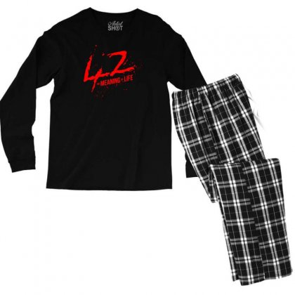 42 The Meaning Life Men's Long Sleeve Pajama Set Designed By Specstore