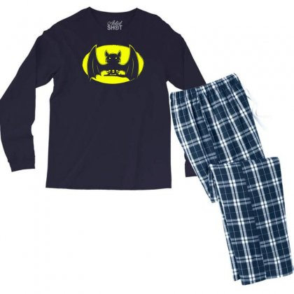 Bat Moon Men's Long Sleeve Pajama Set Designed By Specstore