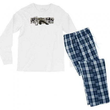 Graffiti Man Men's Long Sleeve Pajama Set Designed By Specstore