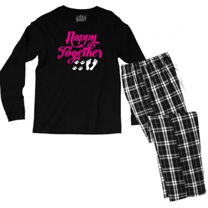 Happy Together With Pet Men's Long Sleeve Pajama Set Designed By Specstore
