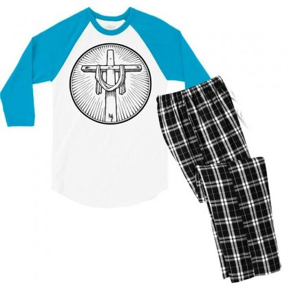 Easter Sunday Cross Men's 3/4 Sleeve Pajama Set Designed By Specstore