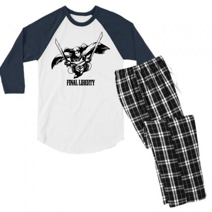 Final Liberty Men's 3/4 Sleeve Pajama Set Designed By Specstore