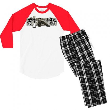 Graffiti Man Men's 3/4 Sleeve Pajama Set Designed By Specstore