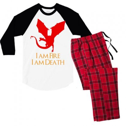 I Am Fire I Am Death Men's 3/4 Sleeve Pajama Set Designed By Specstore