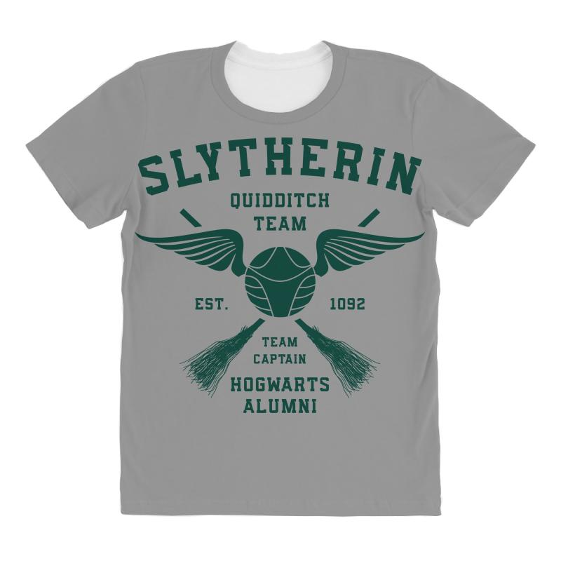 5a2dd36387 Custom Slytherin Quidditch Team Colored All Over Women's T-shirt By ...