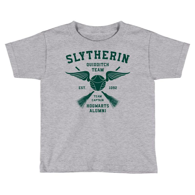 bca6877bf3 Custom Slytherin Quidditch Team Colored Toddler T-shirt By Akin ...