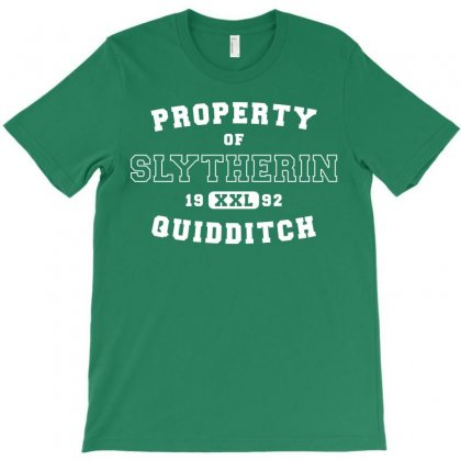 Property Of Slytherin Quidditch White T-shirt Designed By Akin
