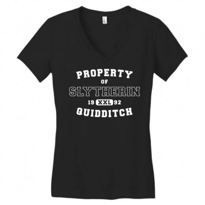 Property Of Slytherin Quidditch White Women's V-neck T-shirt Designed By Akin