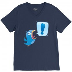 Shouting Bluebird V-Neck Tee | Artistshot