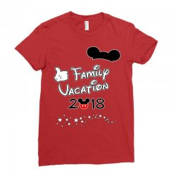 disney mickey family vacation 2018 Ladies Fitted T-Shirt | Artistshot