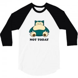 be45ee17 Custom Snorlax Not Today For Light T-shirt By Sengul - Artistshot