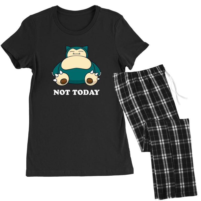 be336daa Custom Snorlax Not Today For Dark Women's Pajamas Set By Sengul ...