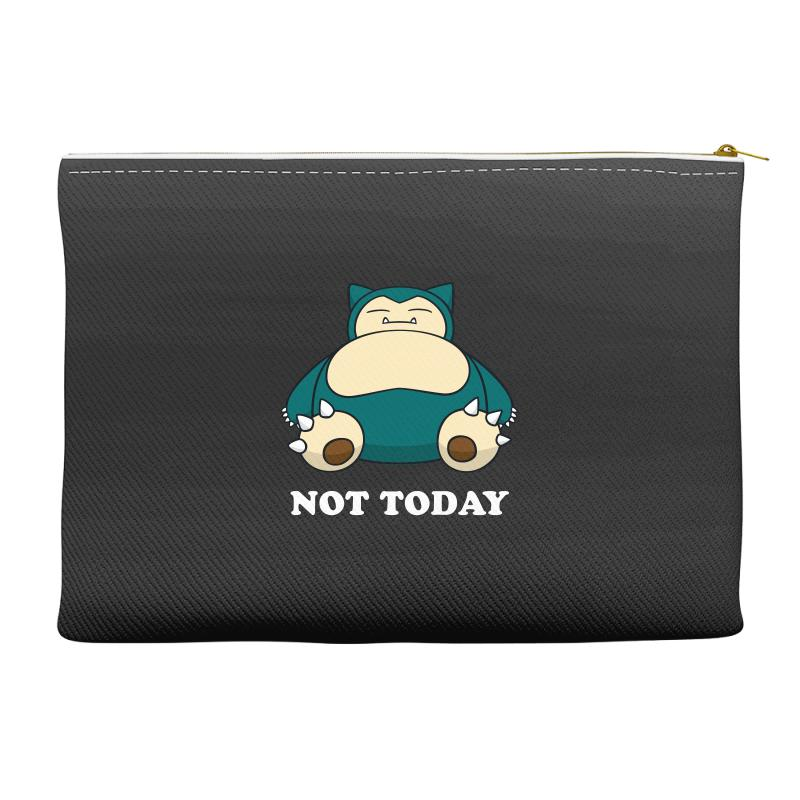 Custom Snorlax Not Today For Dark Accessory Pouches By Sengul ... 67e73be91