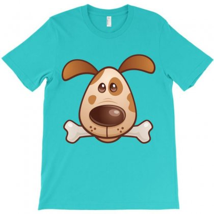 Cute Puppy With Bone T-shirt Designed By Fizzgig