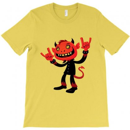 Heavy Metal Devil T-shirt Designed By Fizzgig