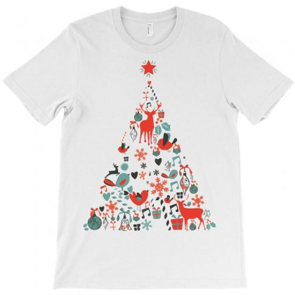 Christmas Tree T-shirt Designed By Oz