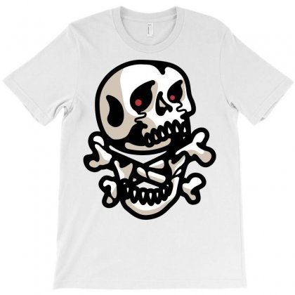 Crossbones T-shirt Designed By Quilimo