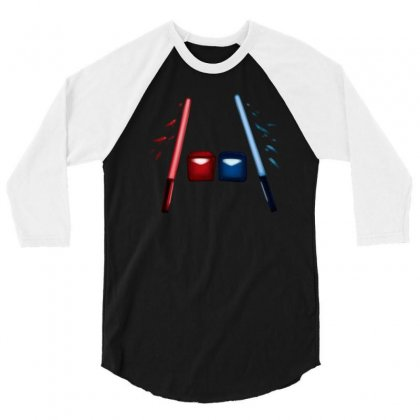 Artsy Beatsaber Shirt 3/4 Sleeve Shirt Designed By Jessysketches