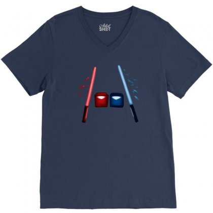 Artsy Beatsaber Shirt V-neck Tee Designed By Jessysketches