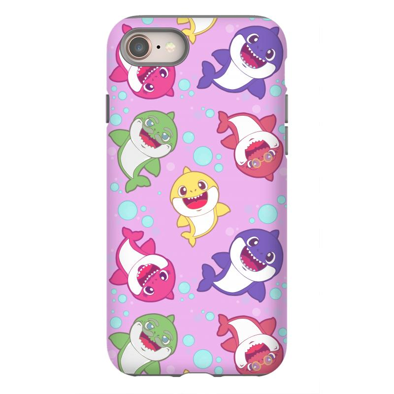 lowest price ce614 aab3d Baby Shark Family Song Doo Doo Pink Pattern Iphone 8 Case. By Artistshot