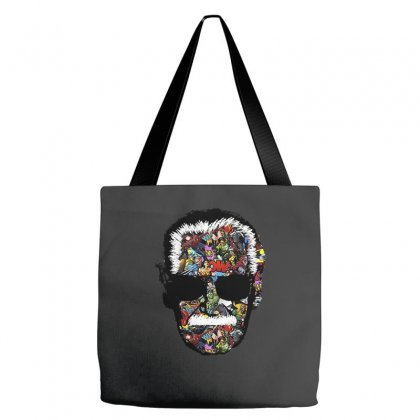 Stan Lee Man Many Face Tote Bags Designed By Uptosign