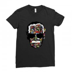Stan Lee Man Many Face Ladies Fitted T-Shirt | Artistshot