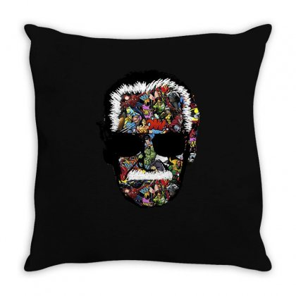 Stan Lee Man Many Face Throw Pillow Designed By Uptosign